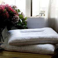 100% textile cotton satin high neck pillow breathable
