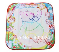 Free Shipping 70*70 cm Multicolor Magic Mat With Magic Water Pen, Magic Drawing Toy, Baby Educational Toy