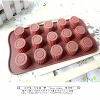 Hot-selling cylindrical silica gel cake baking mould chocolate diy jelly pudding mold ice cube tray
