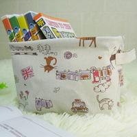 Zakka fluid cloth bag cartoon storage box cd desktop finishing box snacks storage box 3 pcs