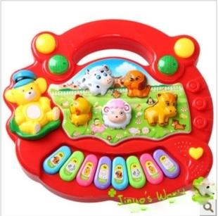 Child intelligence toys animal piano music keyboard puzzle