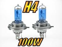 Free Shipping H4 100W 9003 HB2 5000K 12V White Xenon HID Bulbs Globes Lights Headlights Fog Lamps