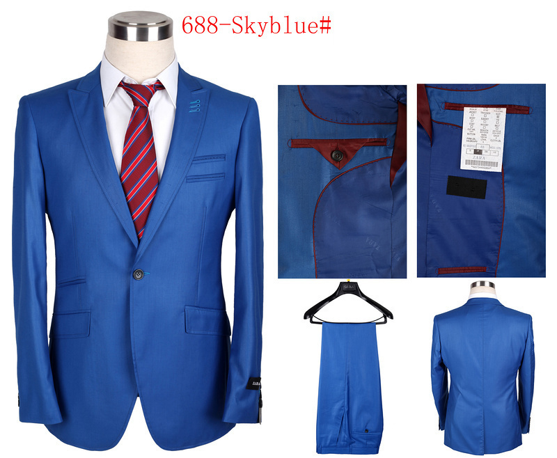 Free Shipping 2014 New Arrival Brand Men Suit High Quality Red Wedding