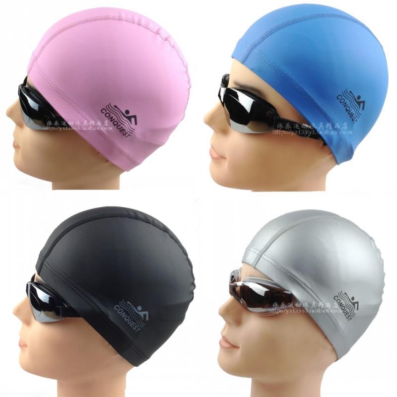 Free shipping Sports PU coating swimming cap waterproof adult general silica gel cap 2013 new listing hot(China (Mainland))