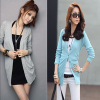 2013 spring and summer 100% cotton female long-sleeve 100% cotton cardigan knitted shawl buckle shirt