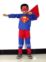 New Kids Superman Cosplay Costume Halloween Christmas Gift Free shipping HY-506028