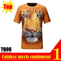 EXCELLENT! TQ06 2013 New Quick Dry 3D Men Short Sleeve Top East-North Siberian Tigers 3D Print T-shirt Plus Size M L XL XXL