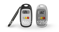 Free Shipping!! Ultra Thin  and super slim Step Counter Pedometer with 2D Digital Motion Sensor