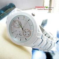 White ceramic scale luminous paint gentlewomen women's watch quartz watch vintage table