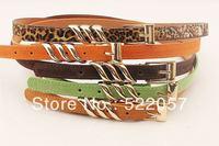 thin belt female Korean wild fashion casual women's pigskin leather belt decorated female models HF30 free shipping