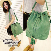 Tassel bag 2013 women's handbag vintage bucket bag one shoulder cross-body handbag
