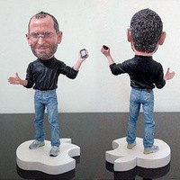 New!! Retail Free shipping Memento mark Iphone 5s/6 The Farther Steve Jobs figure doll wear glasses hand with iPhone and ipad