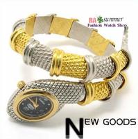 Fashion popular fashion personality diamond bracelet watch serpiform watch table ladies watch