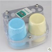 Space aluminum toothbrush holder dental set toothbrush seat tumbler holder lovers cup set