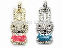 Free Shipping 2GB 4GB 8GB 16GB 32GB Rabbit jewelry cheap usb flash drive with gift box + dropping shipping