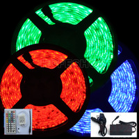 Flexible LED Non waterproof Neon Strip Light RGB SMD 5050 300Led 5m IP65+ 44 Keys Controller + 5A Power
