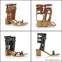 free shipping sandals Isabel marant carol rivet leather sandals