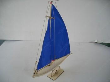 Wool pickerel sailing boat model assembled set a114