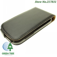 Black Genuine Leather Case For BlackBerry Q10 Flip Shell Cover Leather High Quality Phone Case DHL Free 10pcs/lot