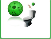 Free shipping 2pcs/box Toilet Odor Clean Attached Ball WC Kugel Clean Magic Ball Toilet Deodorant Ball Toilet Cleaner