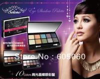 Free shipping Taiwan Brand Solone waterproof shining eye shadow 10 color eye shadow  fresh and cool women naked makeup cosmetics
