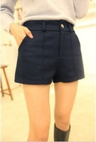 Free shipping Fashion design woolen shorts casual pants
