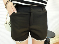 Free shipping Z chickens 0612 paillette bordered chiffon shorts