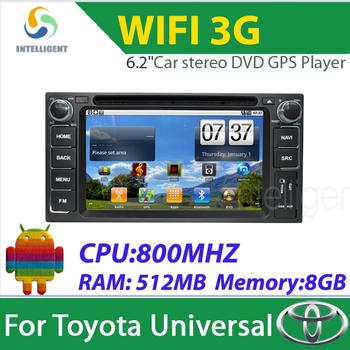 2 Din Car radio Android Car DVD player for Toyota FJ land Cruiser Avanza Alphard Previa GL Hiace Ielas Car GPS with 3G wifi