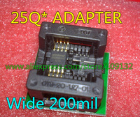 SOP8  to DIP8 socket SOP8 IC Adapter  for SPI Flash 25Q*  wide 200mil  208mil NEW IN STOCK