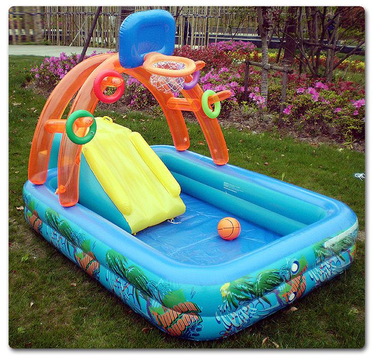 Online kopen wholesale opblaasbaar zwembad glijbaan uit for Zwembad spel