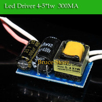 hot selling 20PCS/Lot (4-5) x 1W 4W 5W LED driver Constant Current drivers High Power  AC85V-265V to DC 12-18V 300mA A+