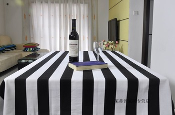 Placemat black and white stripe 100% cotton fabric table cloth table cloth tablecloth gremial dining table cloth