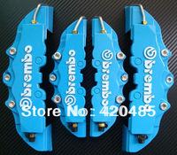 4pcs Blue 3D Brembo Style ABS Front+Rear Disc Brake Caliper Kit Cover Universal
