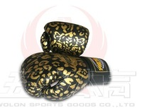 Wulong quality boxing gloves liner leopard print