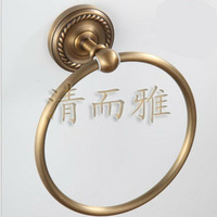 Luxury Antique Brass Towel Ring European Style For Bathroom Free Shipping 601R
