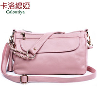 First layer of cowhide 2013 women's genuine leather handbag portable small one shoulder cross-body bag women's bag free shipping