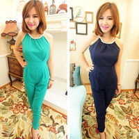2013 summer sexy pearl jumpsuit ladies high waist tube top women's