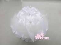 Ring pillow feather rhinestone flower music box ring pillow wedding supplies wedding gift decoration