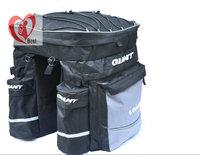 mountain bicycle Travel Large Bag road Bicycle bag back Seat Pannier Huge Dual Saddle Bag 43L,600Dnylon fabric Free Shipping