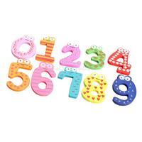 10PCS Cute Numbers Wooden Fridge Magnetic Animal Sticker Figure Toy  K5BO