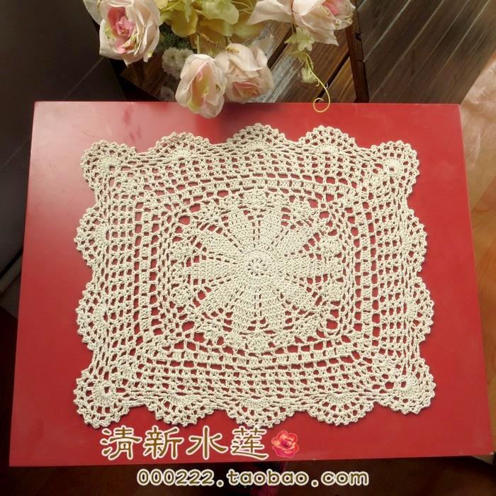Buy 2015 new arrival free shipping luxury - Set de table crochet ...