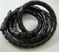 8Meter   10mm  Spiral Cable Wire Wrap Tube Computer Manage Cord  black   Computer Manage Cord