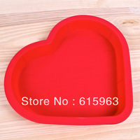 FAD 100% Food Grade FAD certification Valentine's day 10 inch love heart pudding cake mold silicone mold baking tool