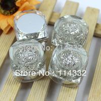 free shipping New Arrival +Hot Sale 12 silver sequins UV Gel Builder 8ml Nail Art Set UV Nail Gel Fit Nail Art Decoration nails