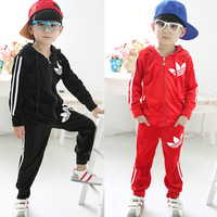 Hot-selling ! children's clothing 2013 autumn male female child baby velvet sports casual set