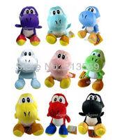 "Free Shipping EMS 100/Lot 7"" Super Mario plush toy Sitting yoshi colors mixed Wholesale"
