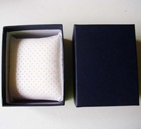 Free shipping wholesale 24pcs/lot HIGH QUALITY! 10.5*8*7cm Paper Fashion Watch Boxes/Case with Breathing PU Pillow