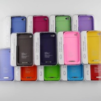 free shipping 1900mAh External Backup Battery Charger Case for I Phone 4 4S Power bank