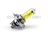 2x New H4 Halogen Xenon Low Beam Light Bulbs P43T yellow 3000K 12V 100W Free Shipping