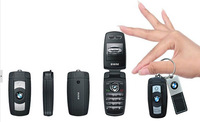 The Most mini size mobile phone X6 mini car key mobile phone Flip kids cell phone bluetooth FM radio